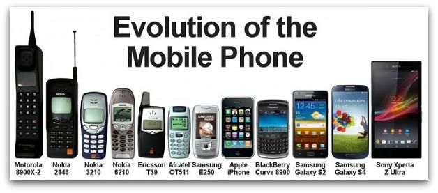 Evolutie telefon mobil
